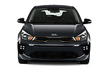 Car photography straight front view of a 2021 KIA Rio GT-Line 5 Door Hatchback Front View