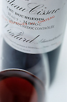 Europe/France/Aquitaine/33/Gironde: Chateau du Cissac (AOC Haut-Médoc) - Détail bouteille et verre [Non destiné à un usage publicitaire - Not intended for an advertising use]