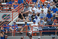 A small group of Wake Forest Demon Deacons fans are surrounded by Florida Gators fans during Game Two of the Gainesville Super Regional of the 2017 College World Series at Alfred McKethan Stadium at Perry Field on June 11, 2017 in Gainesville, Florida.  (Brian Westerholt/Four Seam Images)