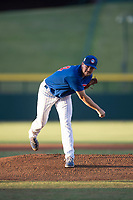 AZL Cubs 1 starting pitcher Peyton Remy (54) follows through on his delivery during an Arizona League game against the AZL Cubs 1 at Sloan Park on June 28, 2018 in Mesa, Arizona. The AZL Athletics defeated the AZL Cubs 1 5-4. (Zachary Lucy/Four Seam Images)