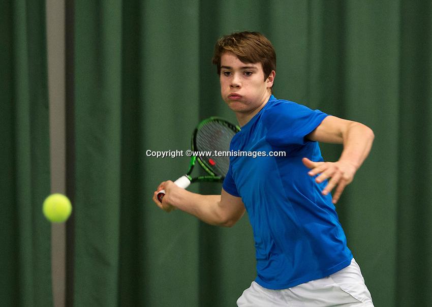 Rotterdam, The Netherlands, March 20, 2016,  TV Victoria, NOJK 14/18 years, Ryan Nijboer (NED<br /> Photo: Tennisimages/Henk Koster