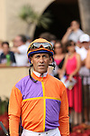 """DEL MAR, CA  JULY 30: Gary Stevens enters the paddock before the Clement L. Hirsch Stakes (Gl) """"Win and You're in Breeders' Cup Distaff Division"""" at Del Mar Turf Club in Del Mar, CA on July 30, 2016. (Photo by Casey Phillips/Eclipse Sportswire/Getty Images)DEL MAR, CA  JULY 30: #2 Stellar Wind with Victor Espinoza beat Beholder and Gary Stevens in the Clement L. Hirsch Stakes (Gl) """"Win and You're in Breeders' Cup Distaff Division"""" at Del Mar Turf Club in Del Mar, CA on July 30, 2016. (Photo by Casey Phillips/Eclipse Sportswire/Getty Images)"""