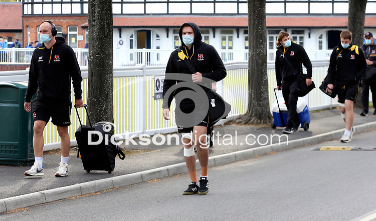 Friday 14th May 2021; Matt Faddes and Jacob Stockdale arriving for the Guinness PRO14 Rainbow Cup Round 3 clash between Leinster and Ulster at The RDS Arena, Ballsbridge, Dublin, Ireland. Photo by John Dickson/Dicksondigital
