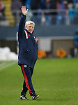 Gordon Strachan at the end waving to the Scotland fans in Molde