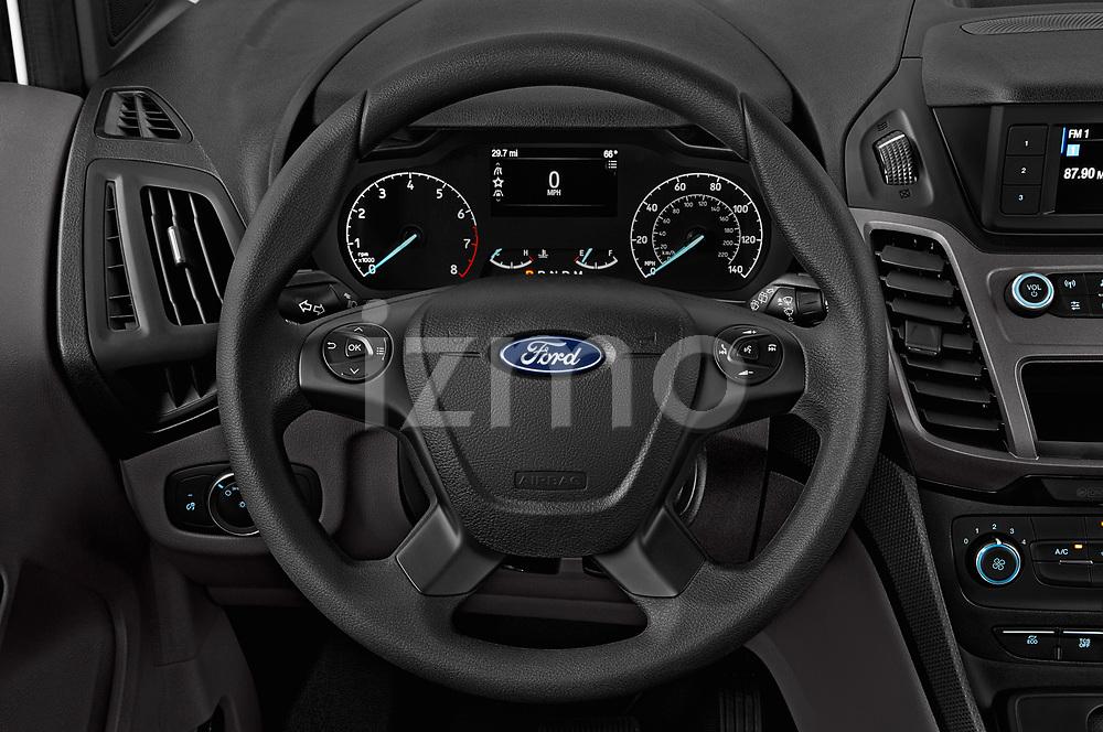 Car pictures of steering wheel view of a 2019 Ford Transit-Connect XL 5 Door Car Van Steering Wheel