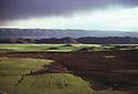 Iran 1975.Landscape of Kurdistan in springtime    Iran 1975 Vue du Kurdistan sur des champs et des montagnes au printemps