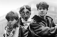 - students demontration against the pollution - Milan, January 1989....- manifestazione studenti contro l'inquinamento - Milano, gennaio 1989