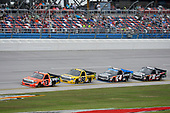 NASCAR Camping World Truck Series<br /> Fred's 250<br /> Talladega Superspeedway<br /> Talladega, AL USA<br /> Saturday 14 October 2017<br /> Cody Coughlin, Ride TV/ Jegs Toyota Tundra, Grant Enfinger, Champion Power Equipment / Curb Records Toyota Tundra, Christopher Bell, Toyota Toyota Tundra, Noah Gragson, Switch Toyota Tundra<br /> World Copyright: John K Harrelson<br /> LAT Images