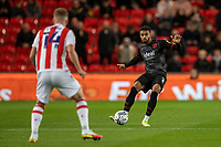 1st October 2021;  Bet365 Stadium, Stoke, Staffordshire, England; EFL Championship football, Stoke City versus West Bromwich Albion; Conot Townsend of West Bromwich Albion passes the ball