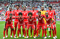 July 26, 2012..Group photogrpah of United Arab Emirates football team before group A Football match between United Arab Emirates and Uruguay at Old Trafford in Manchester, England. Uruguay defeat United Arab Emirates 2-1....
