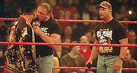 The Rock Triple H Stone Cold Steve Austin 2001                                                                    Photo by  John Barrett/PHOTOlink
