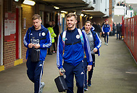 James Maddison of Leicester City arriving pre match during the FA Cup 4th round match between Brentford and Leicester City at Griffin Park, London, England on 25 January 2020. Photo by Andy Aleks.