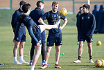 St Johnstone Training….26.02.19   <br />David Wotherspoon pictured watching Joe Shaughnessy during training this morning at McDiarmid Park ahead of tomorrow's game against Hibs.<br />Picture by Graeme Hart.<br />Copyright Perthshire Picture Agency<br />Tel: 01738 623350  Mobile: 07990 594431