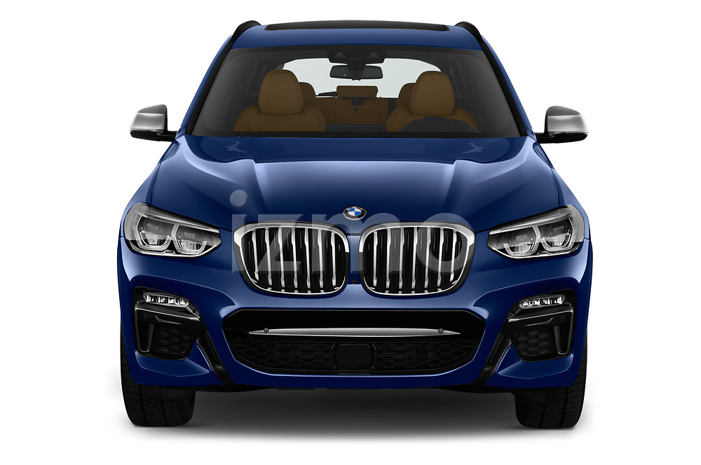 Car photography straight front view of a 2018 BMW X3 base 5 Door SUV