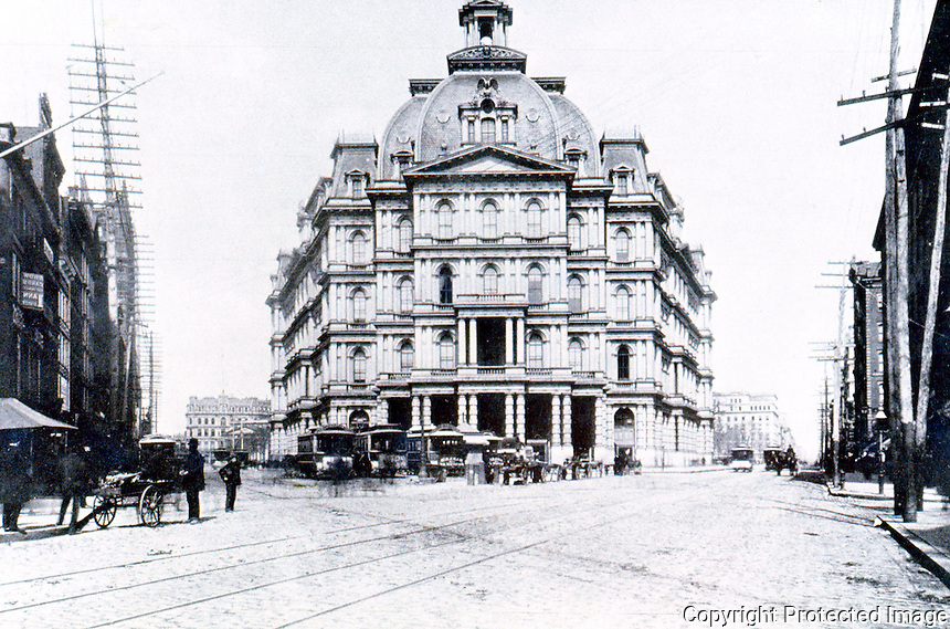 New York City: City Hall Post Office, 1875-1939, c. 1890.  BLACK, OLD NEW YORK, p. 43. Reference only.