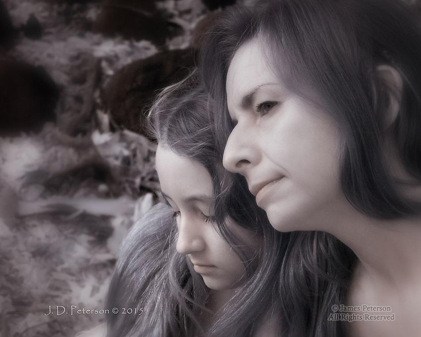 Family #1: Junaita and Bronwyn (Infrared)