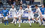 Raith Rovers v St Johnstone....08.03.14    Scottish Cup Quarter Final<br /> Joe Cardle celebrates his goal<br /> Picture by Graeme Hart.<br /> Copyright Perthshire Picture Agency<br /> Tel: 01738 623350  Mobile: 07990 594431