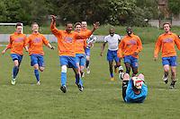 Arbour Athletic players celebrate winning the John & Christopher Egan Memorial Trophy at Ive Farm Arena, Leyton - 17/05/09 - MANDATORY CREDIT: Gavin Ellis/TGSPHOTO - Self billing applies where appropriate - Tel: 0845 094 6026
