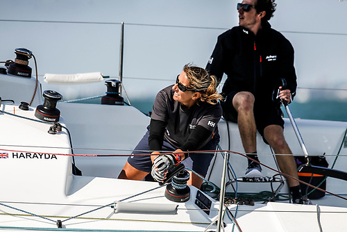 Competing in this year's Rolex Fastnet Race are many of the world's accomplished as well as highly competitive female sailors - such as Britain's Dee Caffari racing Two-Handed with James Harayda on Sunfast 3300 Gentoo