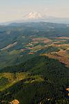 Aerial View of Hood River Landscape, Oregon
