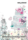 Sharon, WEDDING, HOCHZEIT, BODA, paintings+++++,GBSSC50WCM3,#W#, EVERYDAY ,cake,butterflies