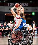 Kathleen Dandeneau, Tokyo 2020 - Wheelchair Basketball // Basketball en fauteuil roulant.<br /> Canada takes on the USA in the wheelchair basketball quarterfinal // Le Canada affronte les États-Unis en quart de finale de basketball en fauteuil roulant. 31/08/2021.