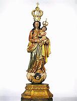 Imagem da santa de Nossa Senhora de Nazaré que substitui a original na procissão do Círio que ocorre todo ano no segundo domingo de outubro em Belém -Pará - Brasil<br /> © Foto:Paulo Santos/ Interfoto<br /> Cromo
