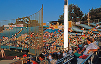 Ballparks: Stockton, CA. Billy Hebert Field Grandstand. Half (or less) filled, Sunday night game, Aug. '92.