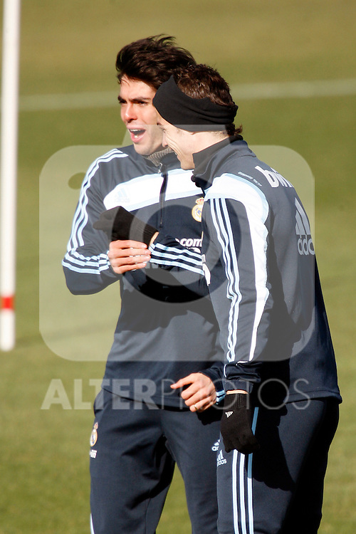 Madrid (24/02/10).-Entrenamiento del Real Madrid..Cristiano Ronaldo y Kaka...© Alex Cid-Fuentes/ ALFAQUI..Madrid (24/02/10).-Training session of Real Madrid c.f..Cristiano Ronaldo and Kaka...© Alex Cid-Fuentes/ ALFAQUI.
