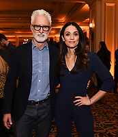 2020 FOX WINTER TCA: L-R: NEXT cast members John Slattery and Fernanda Andrade celebrate at the FOX WINTER TCA ALL-STAR PARTY during the 2020 FOX WINTER TCA at the Langham Hotel, Tuesday, Jan. 7 in Pasadena, CA. © 2020 Fox Media LLC. CR: Frank Micelotta/FOX/PictureGroup