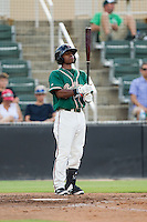 Mason Davis (20) of the Greensboro Grasshoppers checks his bat before stepping up to the plate during the game against the Kannapolis Intimidators at CMC-NorthEast Stadium on August 31, 2014 in Kannapolis, North Carolina.  The Grasshoppers defeated the Intimidators 3-1.  (Brian Westerholt/Four Seam Images)