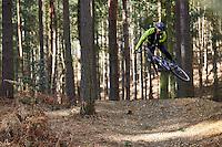 Dave Hemming riding a Fat Chance Yo Eddy . Swinley Forest, Berks. February 2017