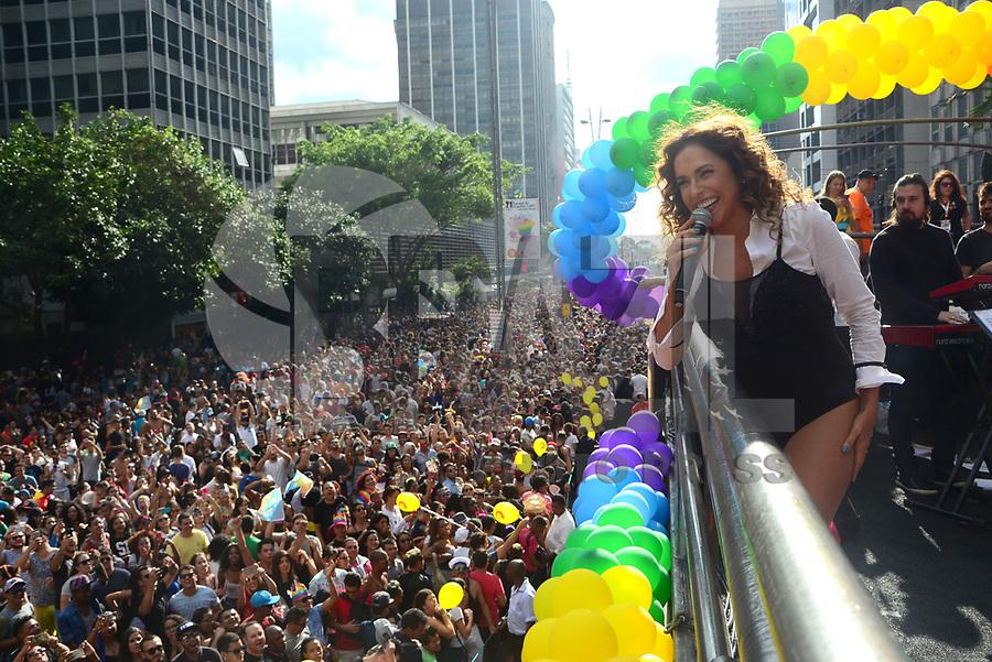 SÃO PAULO,SP, 18.06.2017 - PARADA-SP -Daniela Mercury durante a 21º  Parada do orgulho LGBT na avenida paulista em São Paulo neste domingo, 18. (Foto: Eduardo Martins/Brazil Photo Press)