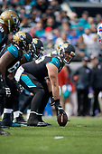Jacksonville Jaguars center Brandon Linder (65) during an NFL Wild-Card football game against the Buffalo Bills, Sunday, January 7, 2018, in Jacksonville, Fla.  (Mike Janes Photography)