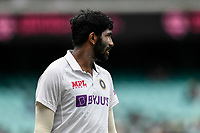 7th January 2021; Sydney Cricket Ground, Sydney, New South Wales, Australia; International Test Cricket, Third Test Day One, Australia versus India; Jasprit Bumrah of India