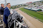 LOUISVILLE, KY - MAY 06: Kentucky Governor Matt Bevin takes in the view from the rooftop of Churchill Downs before the American Turf Stakes on Kentucky Derby Day on May 6, 2017 in Louisville, Kentucky. (Photo by Jon Durr/Eclipse Sportswire/Getty Images)