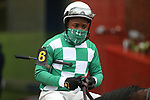 February 6, 2021: Jockey Rocco Bowen before the running of the King Cotton Stakes at Oaklawn Racing Casino Resort in Hot Springs, Arkansas on February 6, 2021. Justin Manning/Eclipse Sportswire/CSM