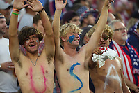 NASHVILLE, TN - SEPTEMBER 5: USA fans during a game between Canada and USMNT at Nissan Stadium on September 5, 2021 in Nashville, Tennessee.