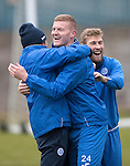 St Johnstone Training…09.12.16<br />Brian Easton, Murray Davidson and David Wotherspoon pictured during training at McDiarmid Park this morning..<br />Picture by Graeme Hart.<br />Copyright Perthshire Picture Agency<br />Tel: 01738 623350  Mobile: 07990 594431