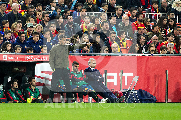 Spain's coach Luis Enrique Martinez Garcia  during the qualifying match for Euro 2020 on 23th March, 2019 in Valencia, Spain. (ALTERPHOTOS/Alconada)