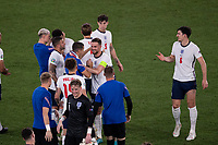 3rd July 2021, Stadio Olimpico, Rome, Italy;  Euro 2020 Football Championships, England versus Ukraine quarter final;  England squad celebrate their 4-0 win after the match