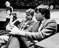 1982, ABN WTT, Jan Leupe and tournament director  Peter Bonthuis (r)