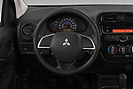 Car pictures of steering wheel view of a 2019 Mitsubishi Space Star Black Collection 5 Door Hatchback