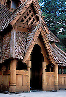 Stavkirk Chapel an exact copy built in 1969 of the famous more than 830-year old Borgund Church in Norway. Rapid City South Dakota