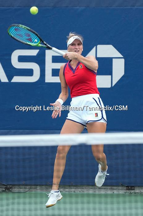 September 1,2021:   Marketa Vondrousova (CZE) loses to Daria Kasatkina (RUS) 3-6, 6-4, 6-4, at the US Open being played at Billy Jean King Ntional Tennis Center in Flushing, Queens, New York.  ©Leslie Billman/Tennisclix/CSM