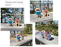 """Thank You for Stayng Home"" Three dimensional art by Lucy Byer, Grade 3, Yarmouth, ME, USA"