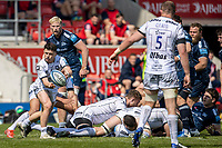 17th April 2021; AJ Bell Stadium, Salford, Lancashire, England; English Premiership Rugby, Sale Sharks versus Gloucester; Charlie Chapman of Gloucester Rugby clears the ball