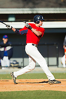 Ryder Jones (26) of Watauga High School follows through on his swing at the 2012 South Atlantic Border Battle on November 3, 2012 in Burlington, North Carolina.  The Mets (SC13) defeated the Red Sox (NC 13) 3-2.  (Brian Westerholt/Four Seam Images)