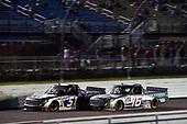 #51: Christian Eckes, Kyle Busch Motorsports, Toyota Tundra Mobil 1 and #16: Austin Hill, Hattori Racing Enterprises, Toyota Tundra Chiba Toyopet