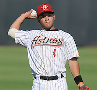 August 2, 2009: Infielder Jose Altuve (4) of the Greeneville Astros, Appalachian League affiliate of the Houston Astros, in a game at Pioneer Park in Greeneville, Tenn. Photo by: Tom Priddy/Four Seam Images